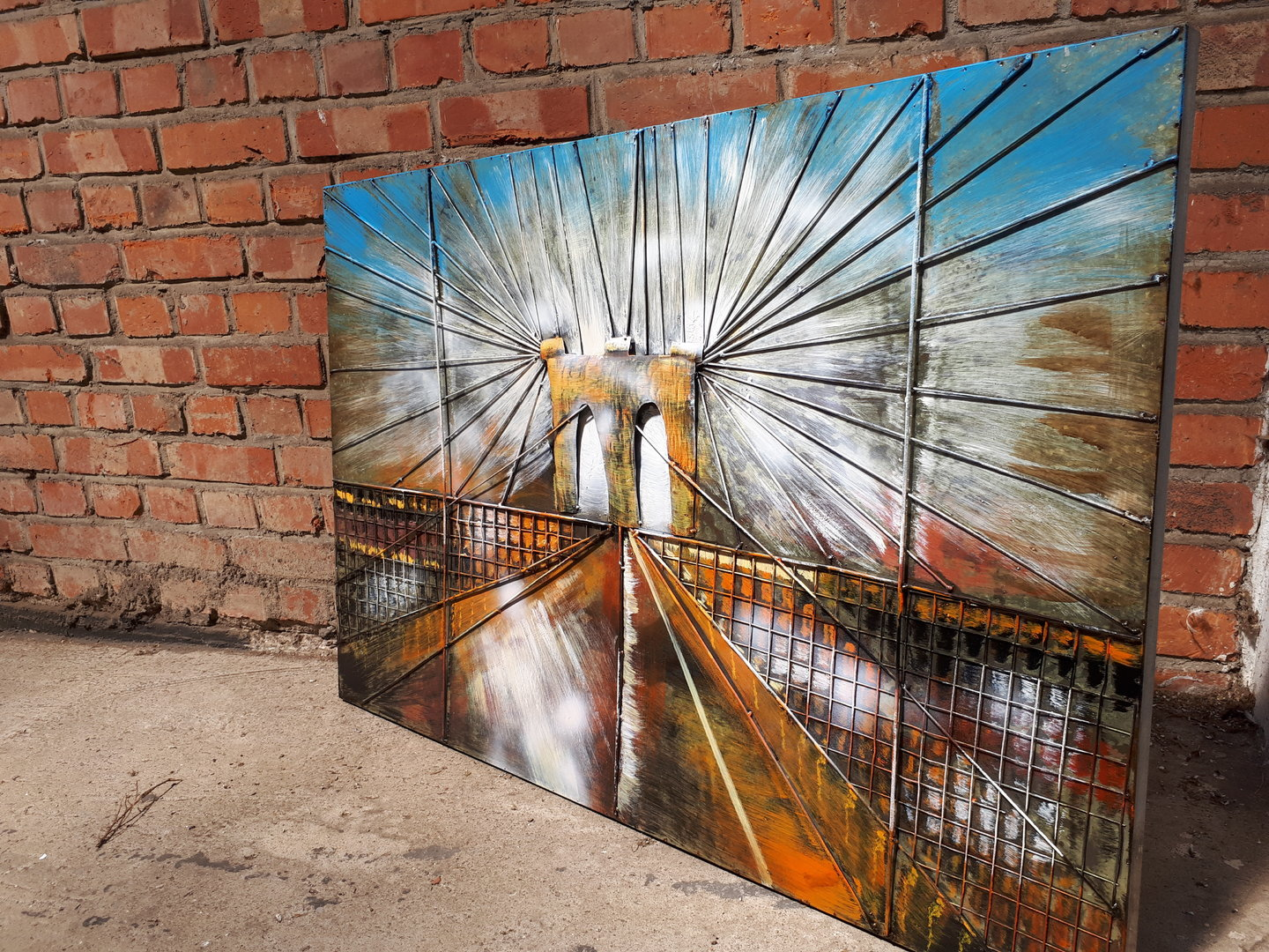 "Metallbild ""Brooklyn Bridge"" New York U.S.A Brücke 3D"